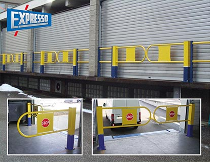 automatic locking dock barrier